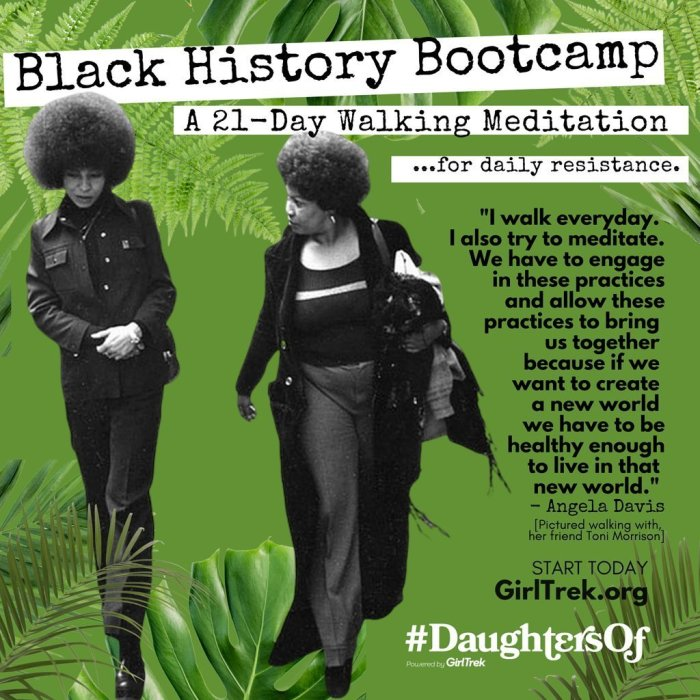 GirlTrek Black History Boot Camp | 4 Ways to Support Black Lives If You Can't Protest