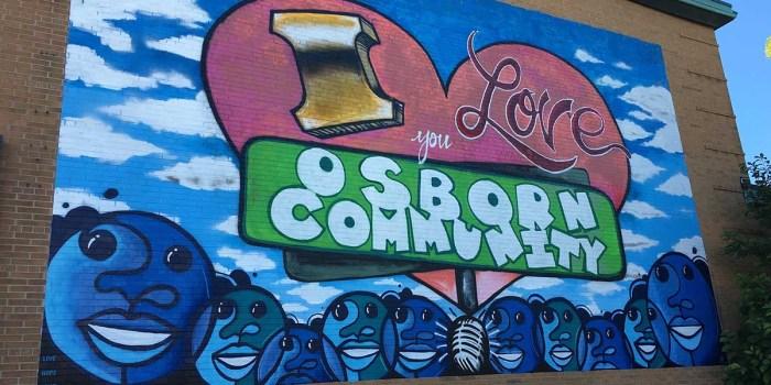 Detroit Mural: I Love You Osborn