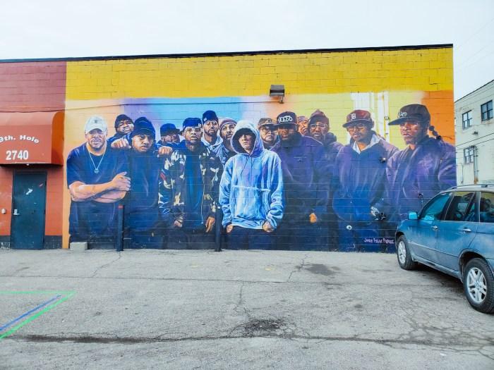 Eminem D12 mural Detroit