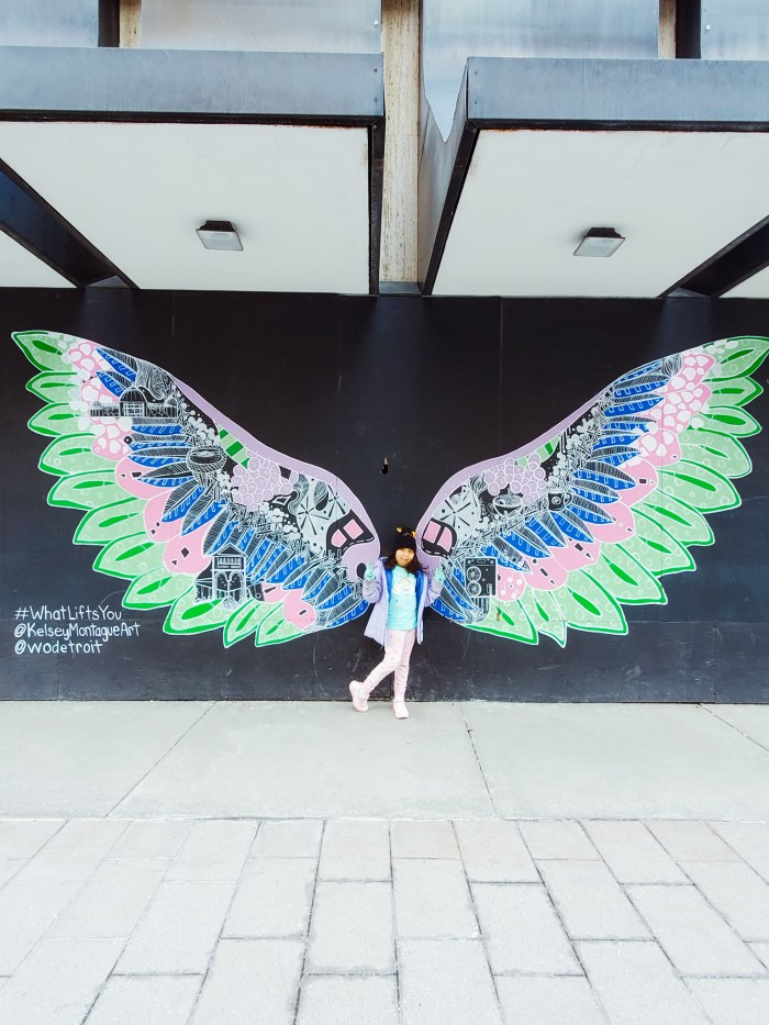 #WhatLiftsYou Kelsey Montague mural Detroit
