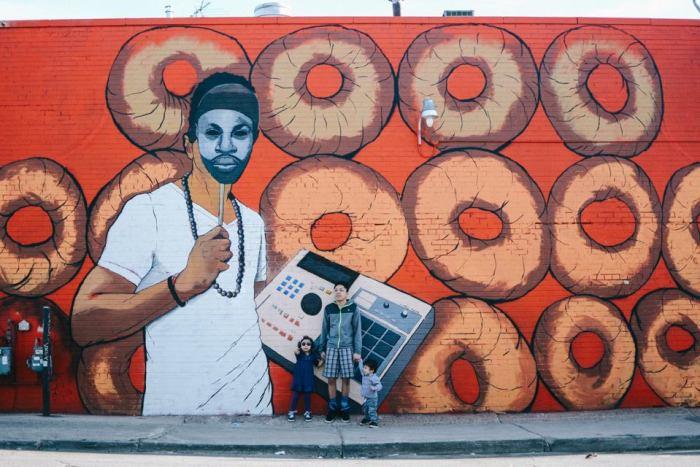 J. Dilla mural by Tylonn Sawyer (Detroit)