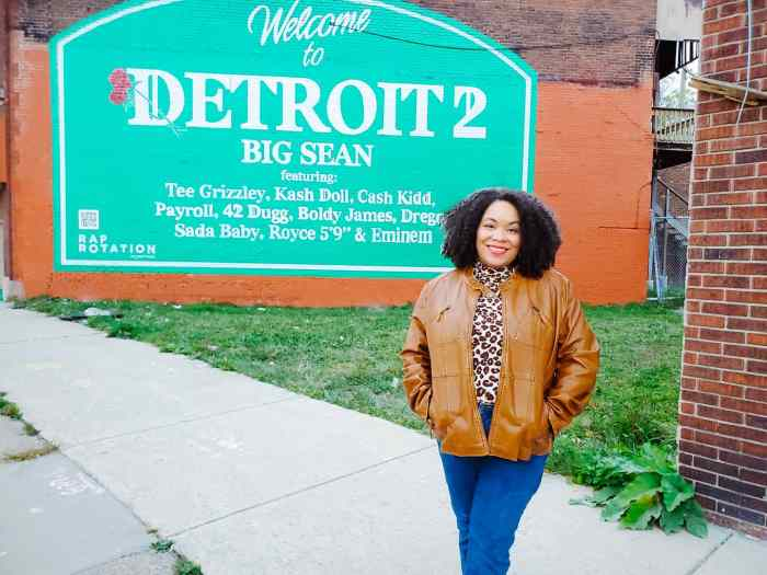 Detroit 2 Mural is located in Detroit, Michigan.