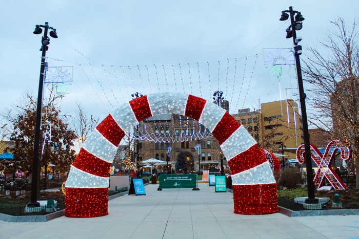 Beacon Park Christmas Lights in Detroit, Michigan