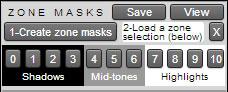 zone mask panel