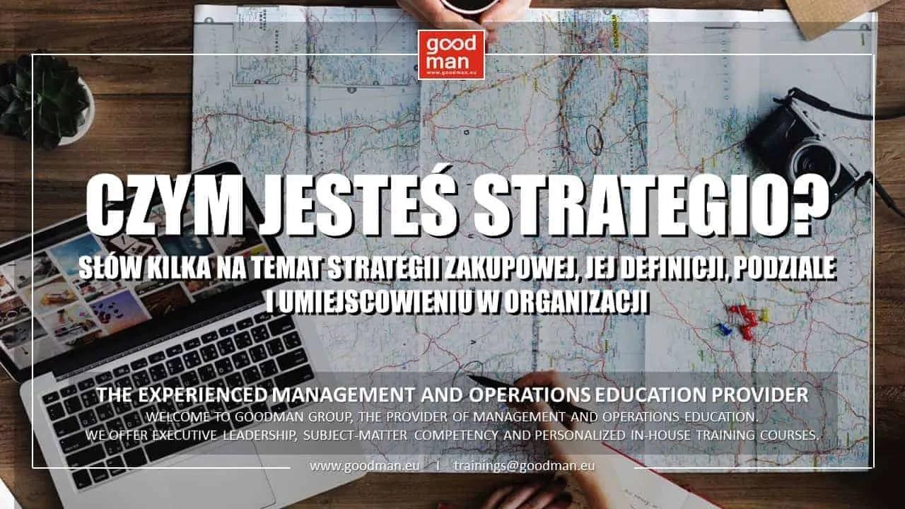 strategia zakupowa szkolenia dla kopców działu zakupów zarządzanie zakupami procurement