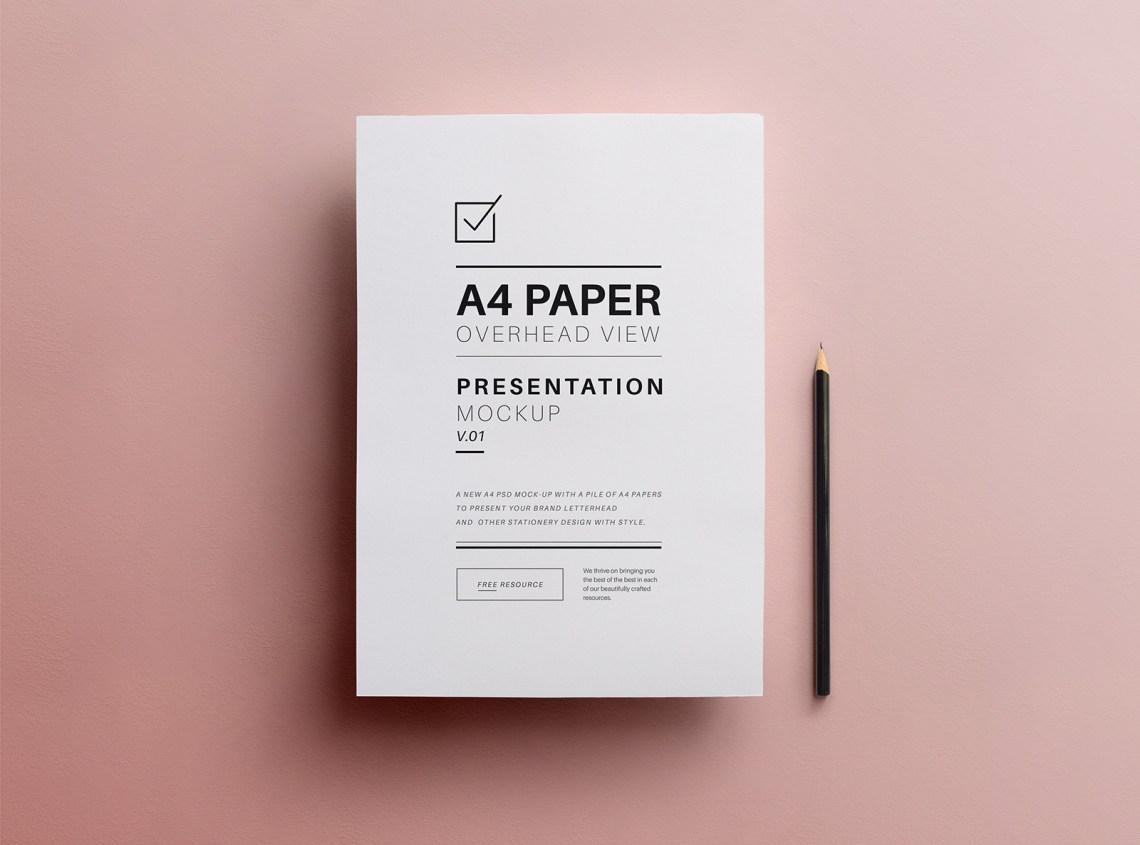 Download Free A4 Flyer Paper Mockup PSD - Good Mockups