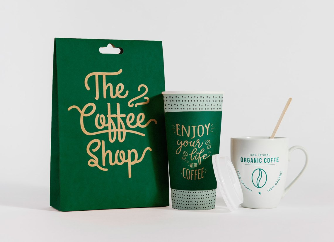Download Free Take Away Coffee Cup & Burger Packaging Mockup PSD ...