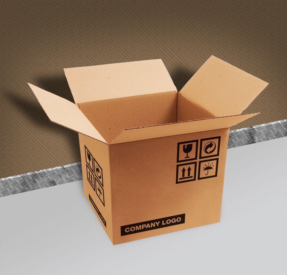 Download Free Brown Corrugated Carton Packaging Box Mockup PSD ...