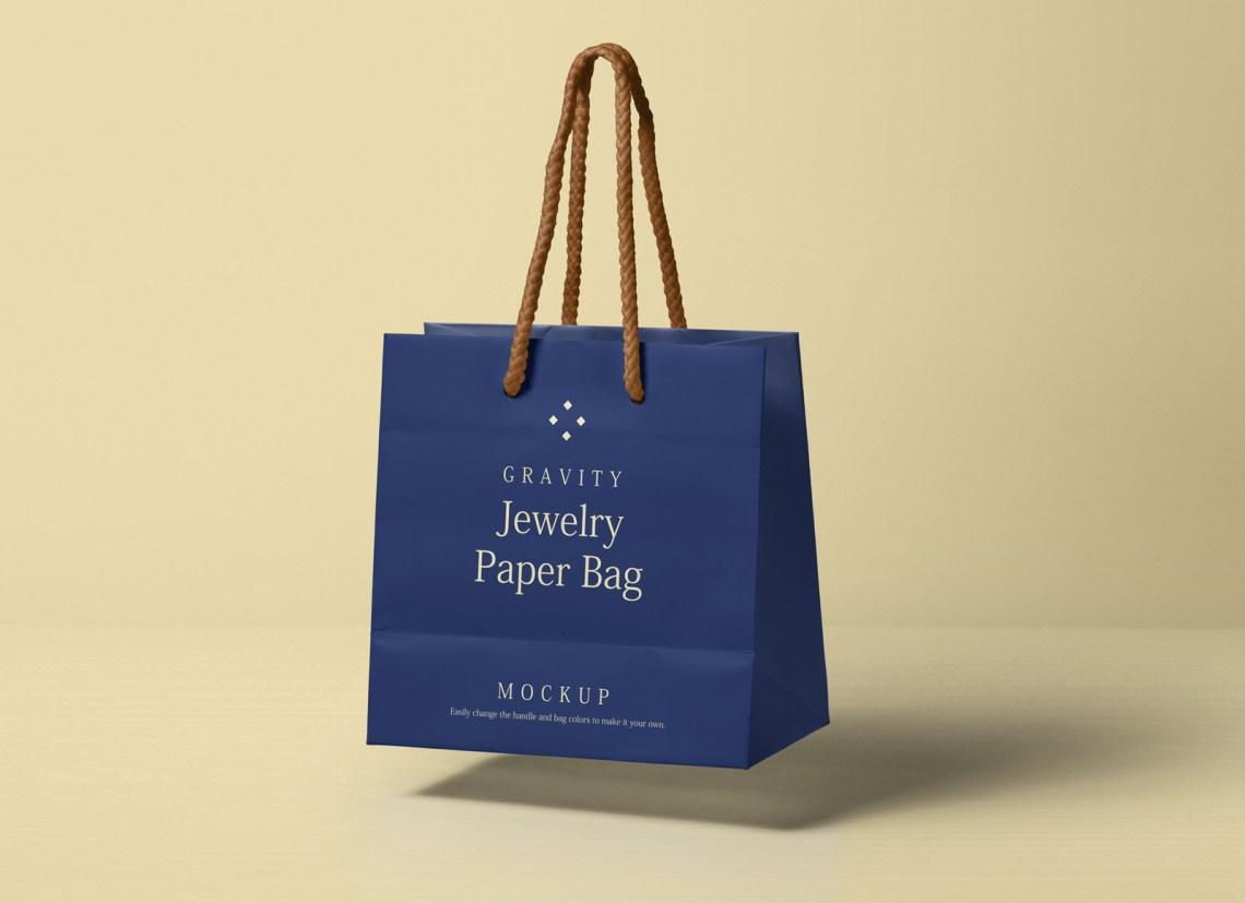 Download Free Gravity Paper Shopping Bag Packaging Mockup PSD ...