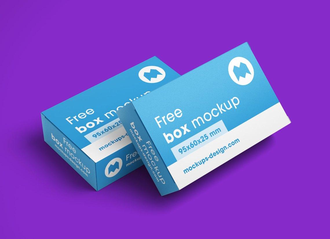 Download Free Rectangle Box Packaging Mockup PSD Set - Good Mockups