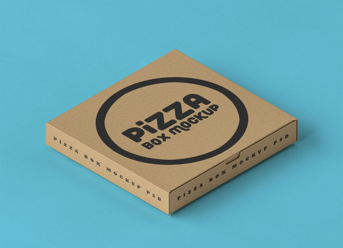 Download Free Corrugated Pizza Box Packaging Mockup PSD - Good Mockups