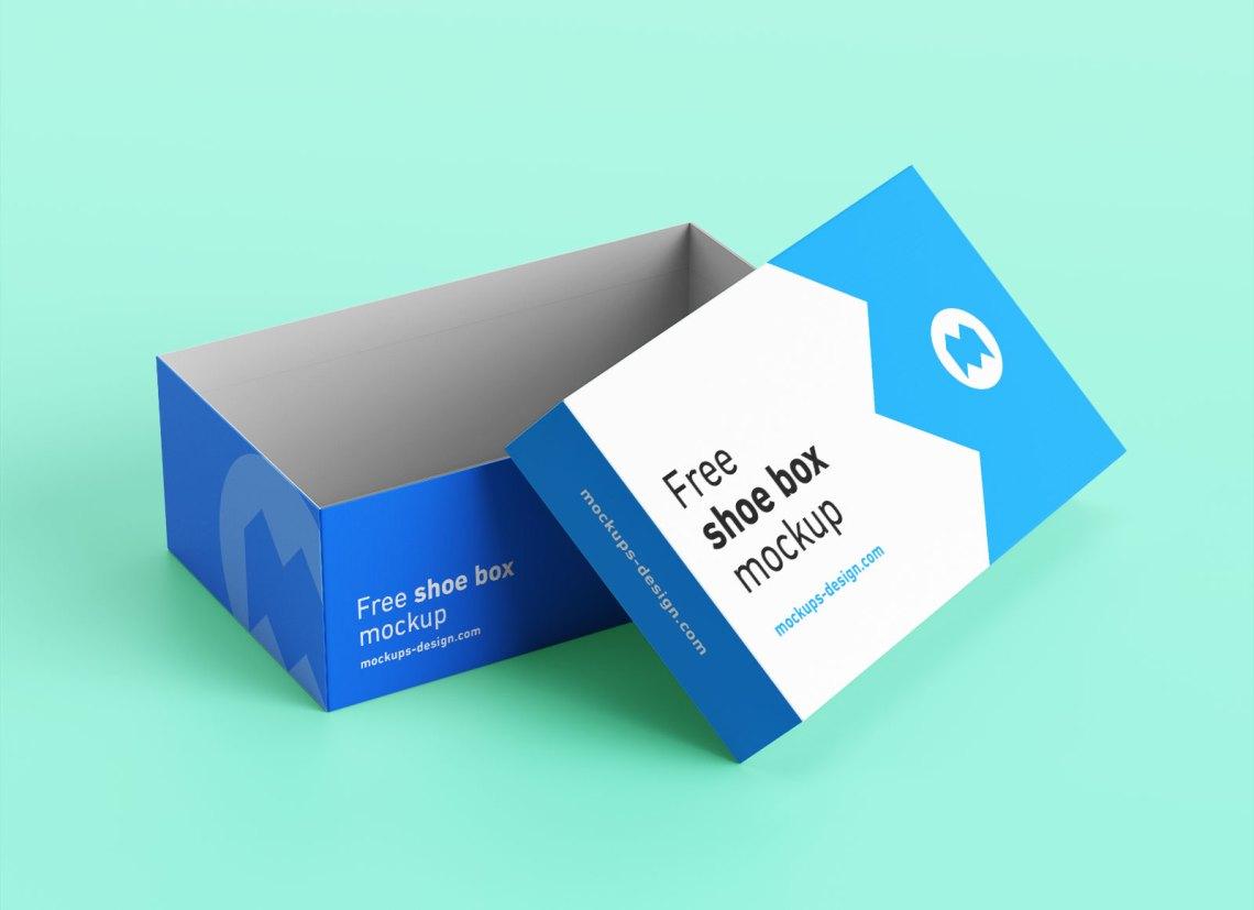 Download Free Shoe Box Packaging Mockup PSD Set - Good Mockups