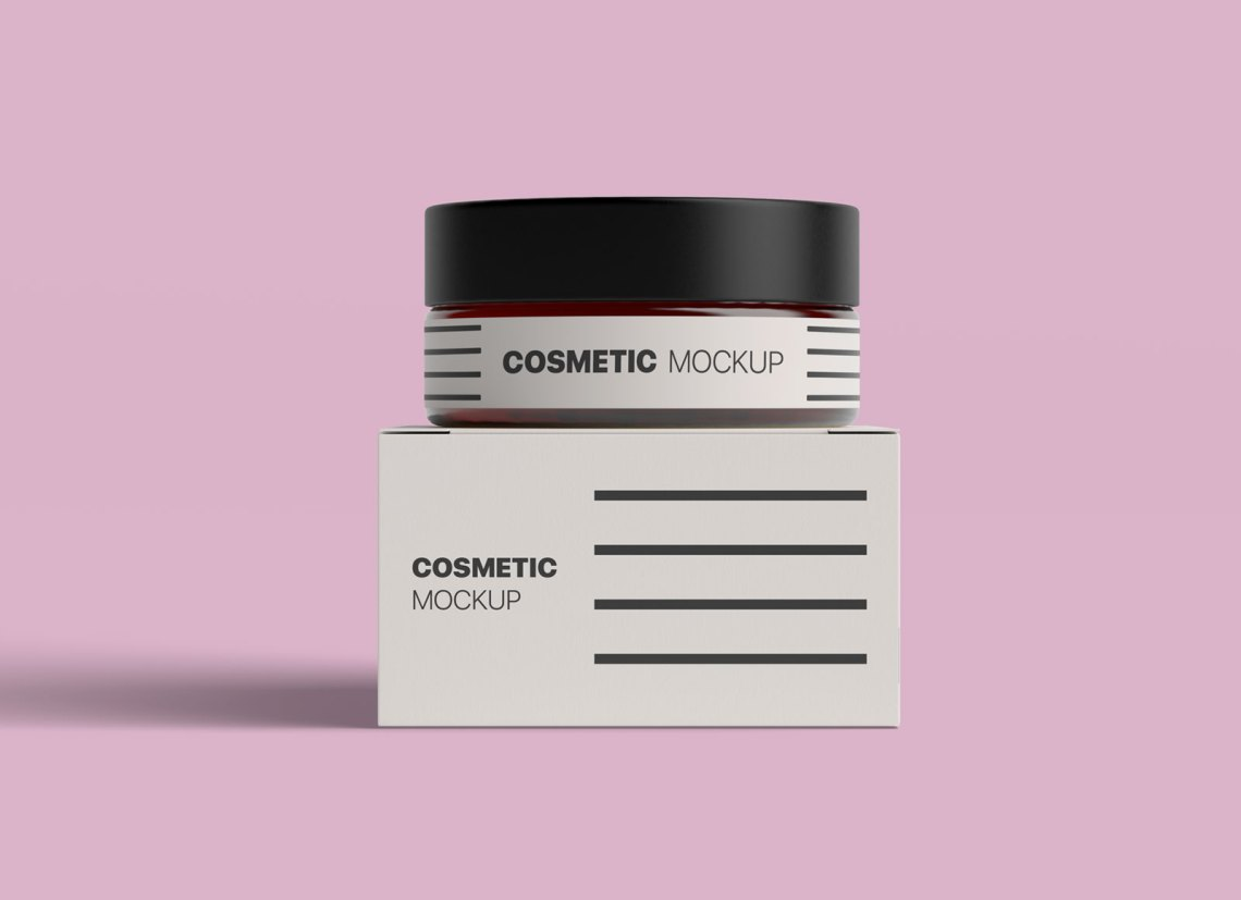 Download Free Cosmetic Bottle & Box Packaging Mockup - Good Mockups