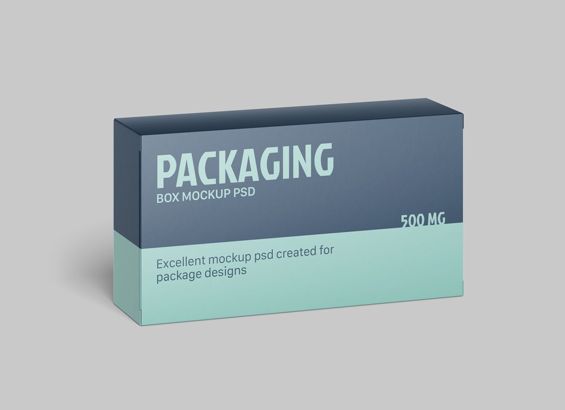 Download Free Horizontal Rectangle Box Packaging Mockup PSD - Good ...