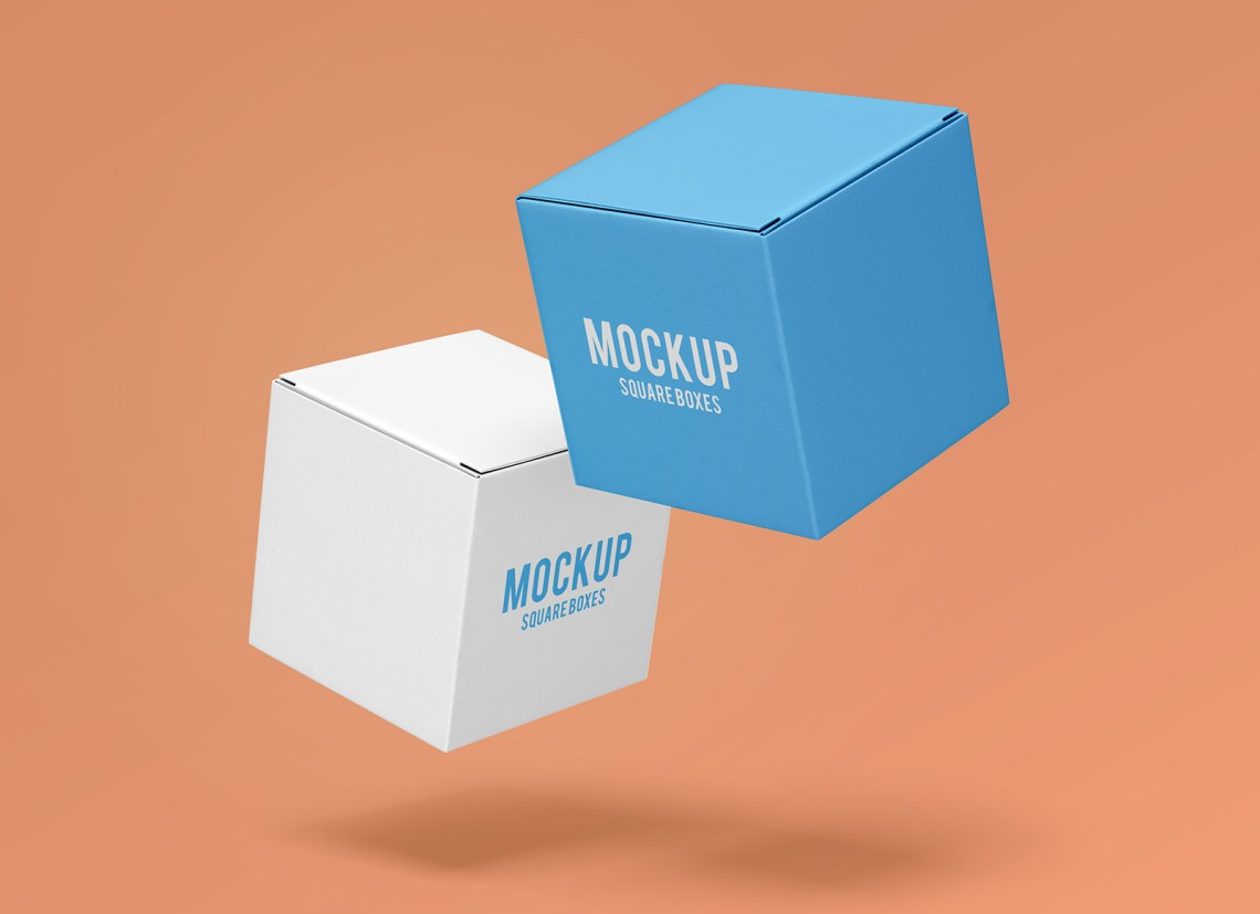 Download Free Square Cube Box Mockup PSD Set - Good Mockups