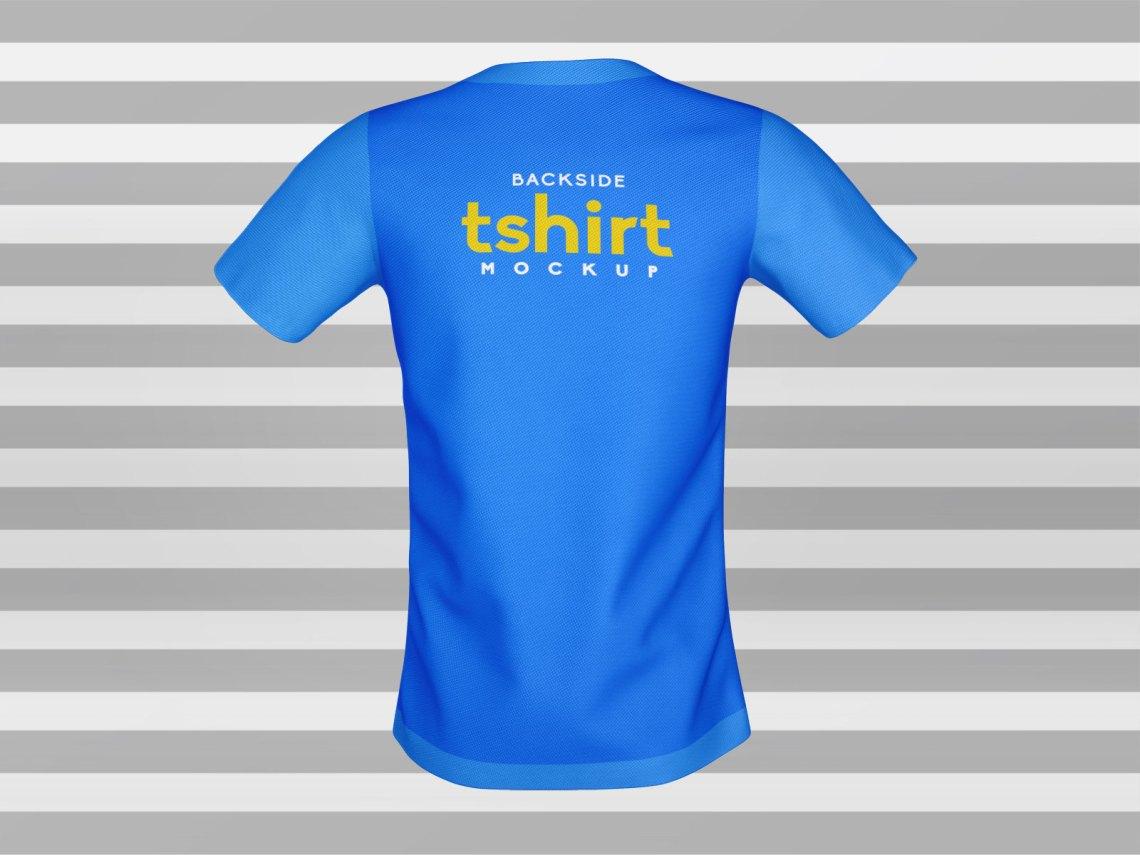 Download Free 3D Half Sleeves Front & Back T-Shirt Mockup PSD ...