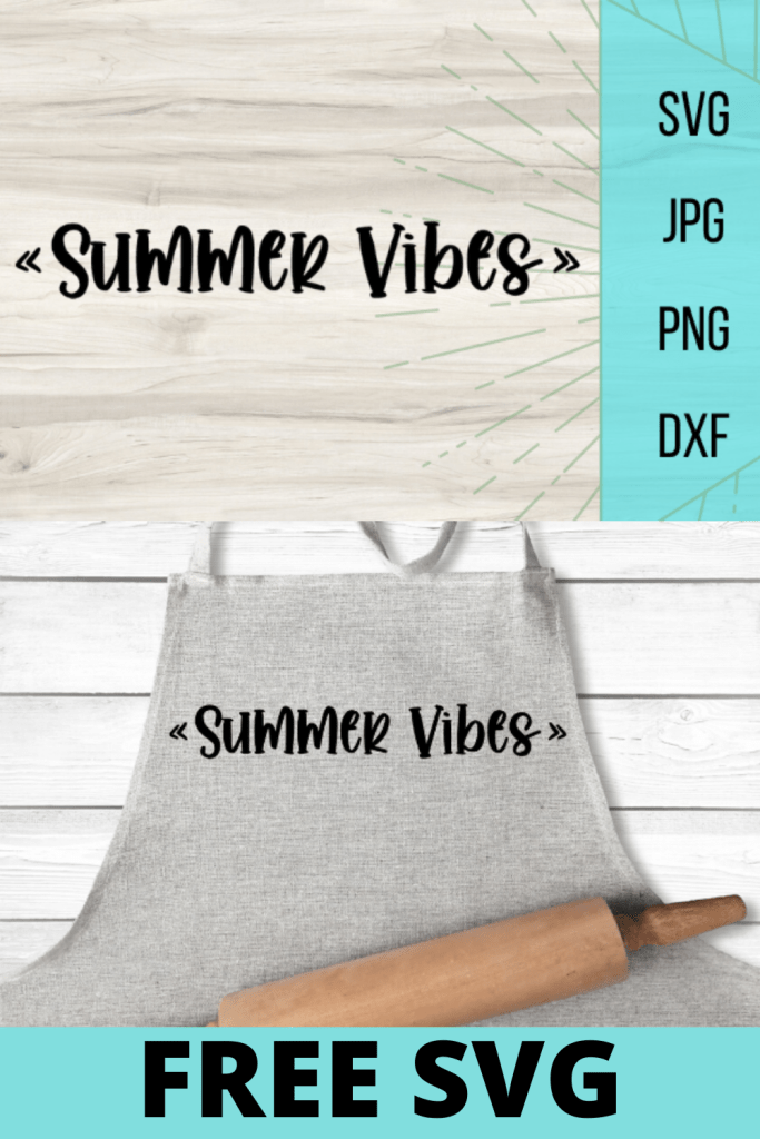 Free Summer Vibes SVG file. Perfect summer file to kick off your summer crafts. So many DIY projects can be made with this free file!