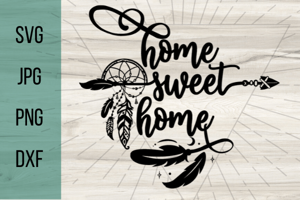 Free Home Sweet Home SVG id perfect for an easy DIY home project for beginners with your Cricut. DIY home projects are so fun! #cricut #home #homesvg #freesvg