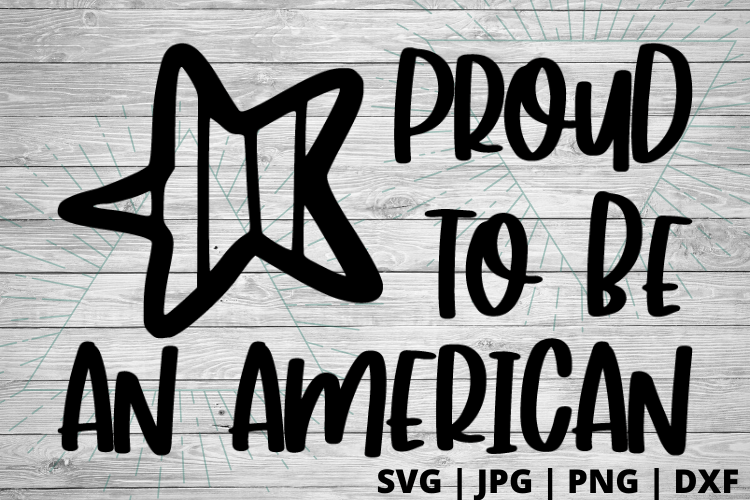 Free Proud to be an American SVG will make for the perfect DIY patriotic Tee. Make a 4th of July shirt with this simple SVG. Cricut SVG files make for super easy beginner projects. #cricut #silhouette #freesvg #svg #diy #project