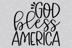 Free God bless America SVG will make for the perfect DIY patriotic Tee. Make a 4th of July shirt with this simple SVG. Cricut SVG files make for super easy beginner projects. #cricut #silhouette #freesvg #svg #diy #project