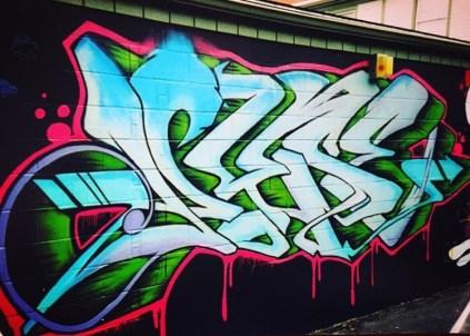 Danny Diamond (no title) Greeke wall 2011 behind Prince Insurance