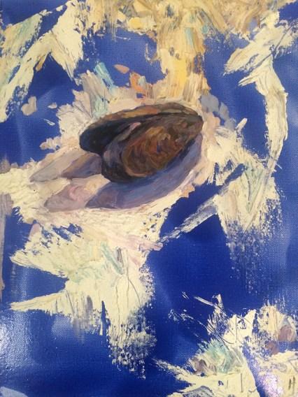 Heidi Caswell Zander, Shore Splash, oil