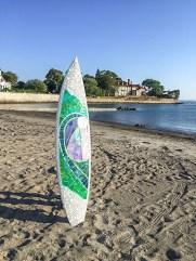 Mary Taddie- Mosaic Surf Board