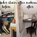Under Stairs Office Makeover