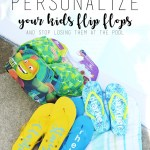 How to Personalize Your Flip Flops (and stop losing them at the pool)