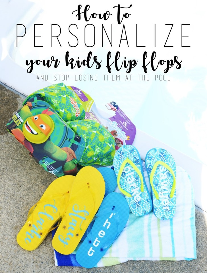 DIY personalized flip flops