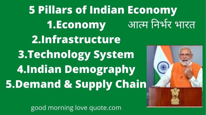 आत्म-निर्भर-भारत  5 pillars of Indian Economy,Narendra Modi Quotes