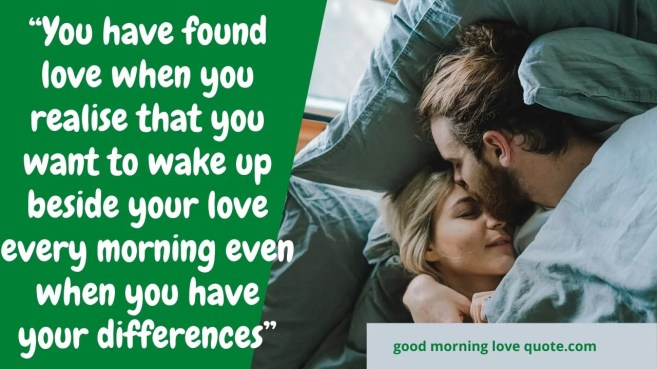 Best Romantic & Sweet Good Morning Love Quotes Image 8