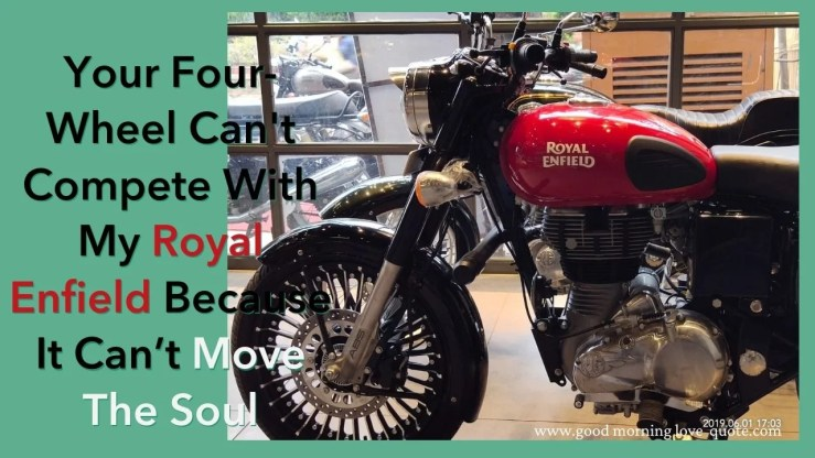 Royal Enfield Bike Tyre Quotes