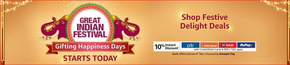 Great India Festival sale amazon deals and coupons