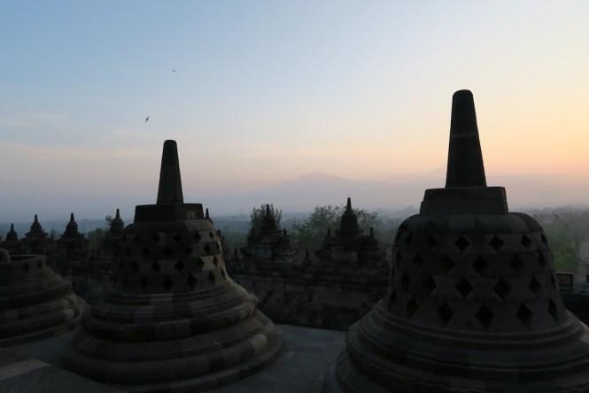 Borobudur Tempel bei Sonnenaufgang