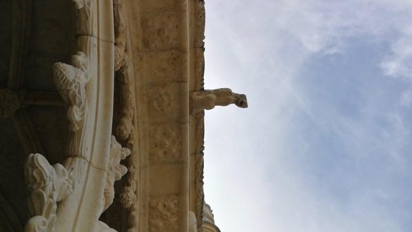 vue sur gargouille monastere des jeronimos