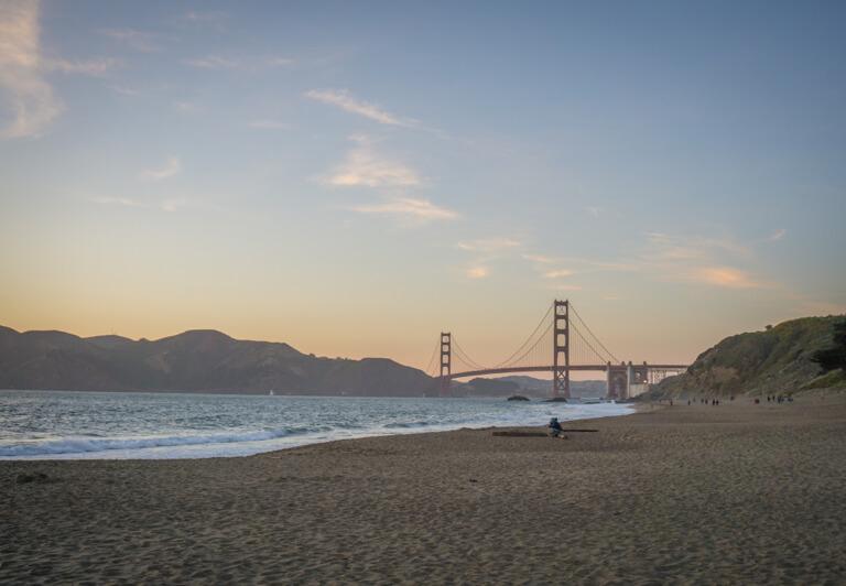 De mooiste stranden ter wereld Baker Beach California