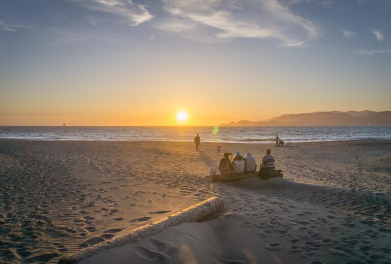 De mooiste stranden ter wereld Baker Beach San Francisco