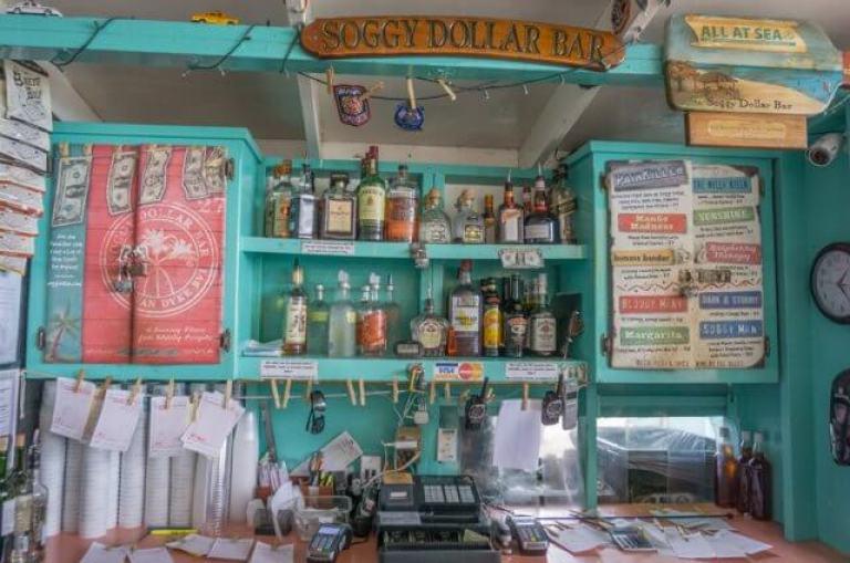 Tortola Britse Maagdeneilanden Caribische Britse Maagdeneilanden Jost van Dyke Soggy Dollars Bar