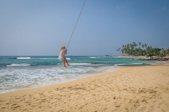 Sri Lanka vakantiestranden slingeren Unawatuna