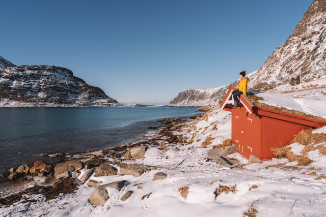 Lofoten vakantie Noorwegen Fischerhuette