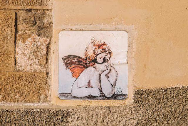 Blub straatkunst Florence