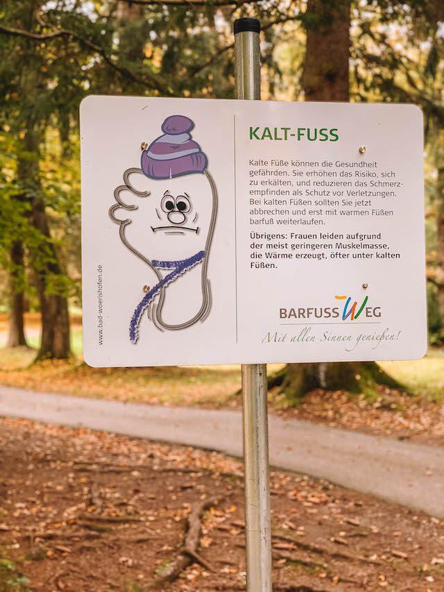 Bad Woerishofen op blote voeten pad Kaltfuss