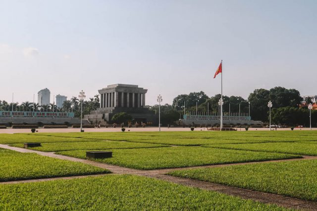 Attracties in Hanoi Ho Chi Minh Mausoleum