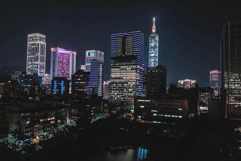 Eslite Hotel Taipei skyline
