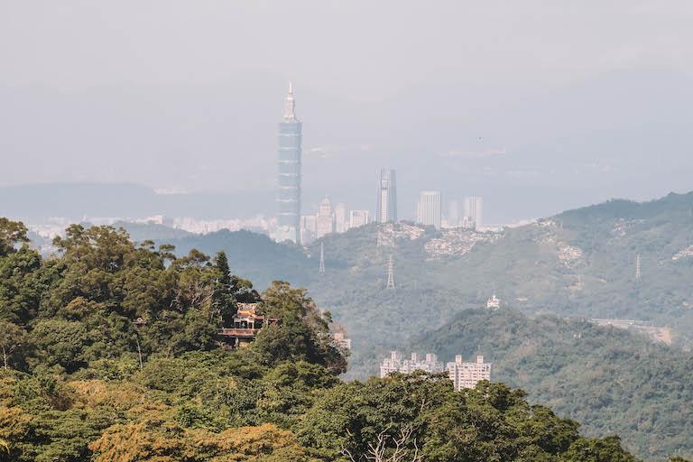 Maokong Taipei skyline