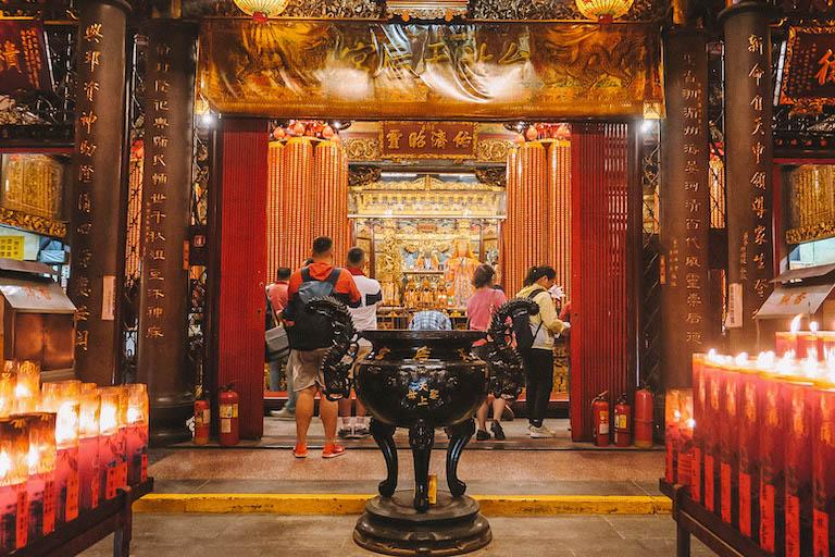 Attracties in Taipei Ximending Temple