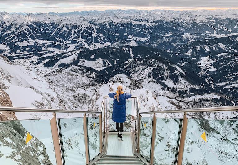 Ramsau am Dachstein trap naar nergens panorama