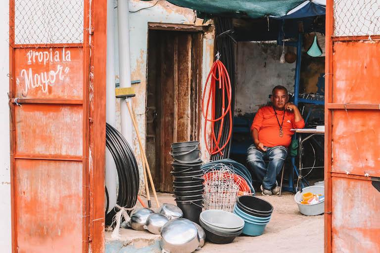Recyclingmarkt Cuba Trinidad