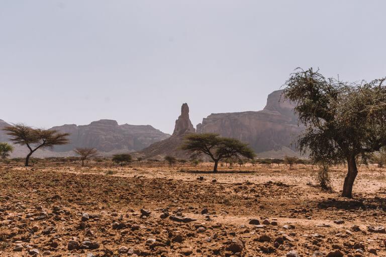 Oriëntatiepunten landschap van Ethiopië